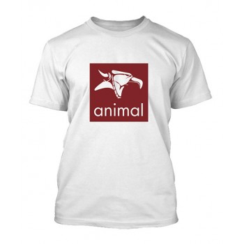 TSHIRT ANIMAL LOGO WHITE