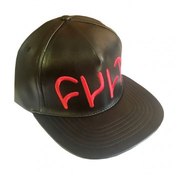 CASQUETTE CULT LEATHER SNAP BACK BLACK / RED