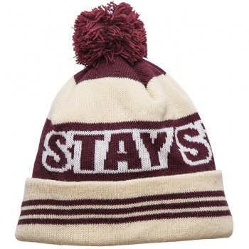STAY STRONG BOOBLE BLACK BEANIE