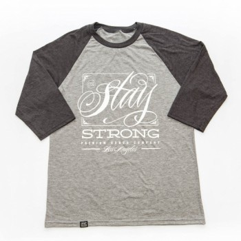 TSHIRT STAY STRONG DEMMING RAGLAN GREY