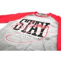 STAY STRONG MIAMI RAGLAN RED/GREY TSHIRT