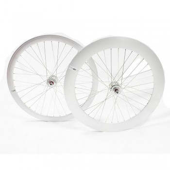 PAIRE DE ROUES BERETTA FIXIE 43MM / 70MM POLISHED