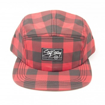 CASQUETTE STAY STRONG 5 PANEL LUMBERPLAID RED/BLACK