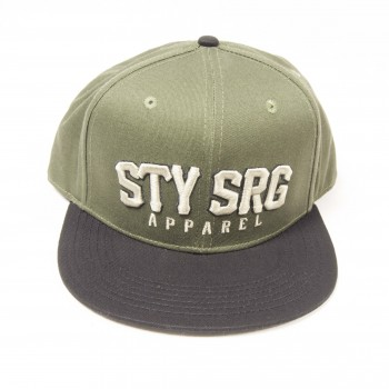 STAY STRONG SNAP BACK HARDBALL OLIVE CAPS