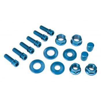 PACK SALT (6 VIS POTENCE + ECROUS MOYEUX + BOUCHON VALVE) BLUE