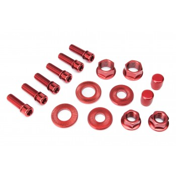 PACK SALT (6 STEM BOLT + HUB NUTS + VALVE CAP) RED