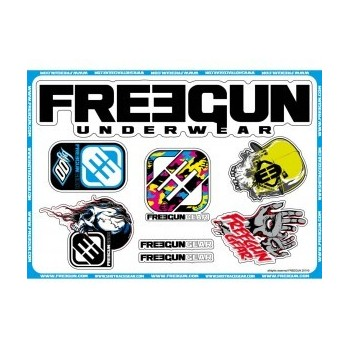 PACK STICKERS SHOT FREEGUN CAMO