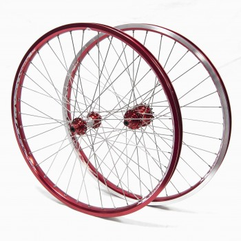 PAIRE DE ROUES PRIDE RACING RIVAL PRO SX 24'' RED