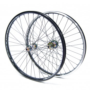 PAIRE DE ROUES PRIDE RACING RIVAL PRO SX 24''  OIL SLICK