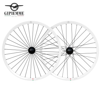 GIPIEMME 30MM FIXED WHEELSET WHITE