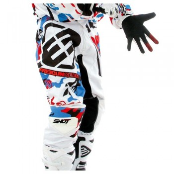 PANTALON SHOT DEVO 14 FREEGUN CAMO WHITE/BLUE