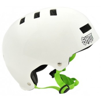 CASQUE SHOT SOLID WHITE/GREEN