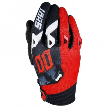 SHOT DEVO SQUAD RED GLOVES