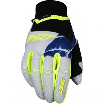 SHOT AEROLITE MAGMA GREY/NEON YELLOW GLOVES