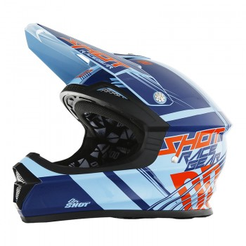 CASQUE SHOT FURIOUS CLAW BLUE/RED