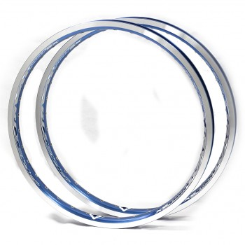 PAIRE DE JANTE PRIDE RIVAL PRO SX CNC COBALT BLUE
