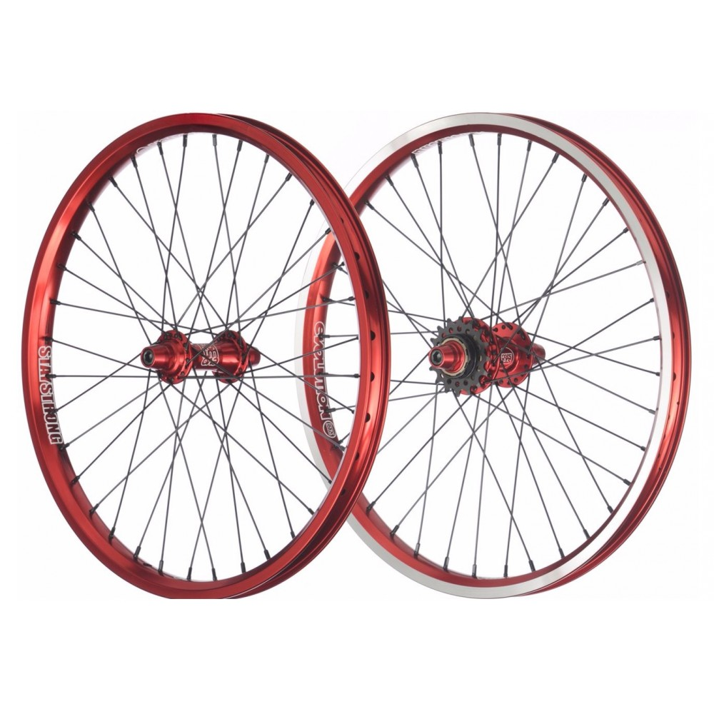 PAIRE DE ROUES STAY SRONG EVOLUTION RED