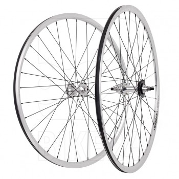 PAIRE DE ROUES BOMBTRACK DROME 28'' POLISHED