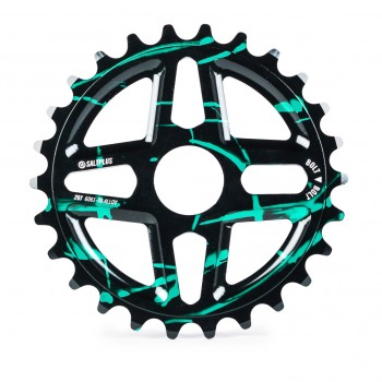 SALTPLUS CENTER BLACK / GREEN ACID DRIP SPROCKET