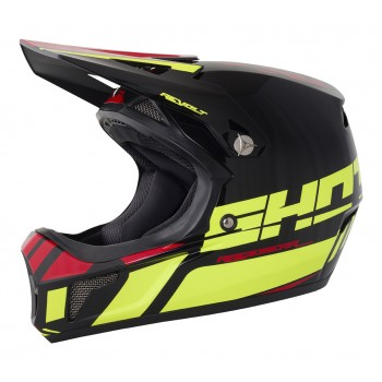 SHOT REVOLT ACID/NEON YELLOW/RED HELMET