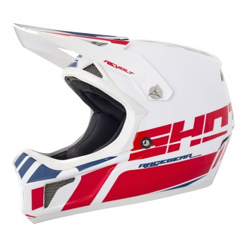 CASQUE SHOT REVOLT WHITE/BLUE/RED