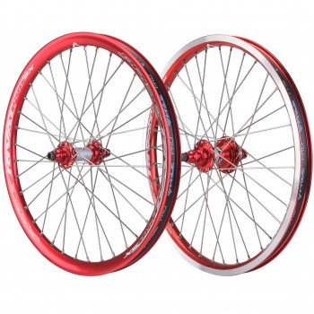 PAIRE DE ROUES PRIDE RACING RIVAL PRO SX RED